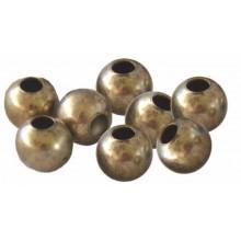 Bola abalorio de metal color bronce