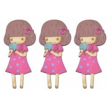 Silueta muñeca pintada rosa