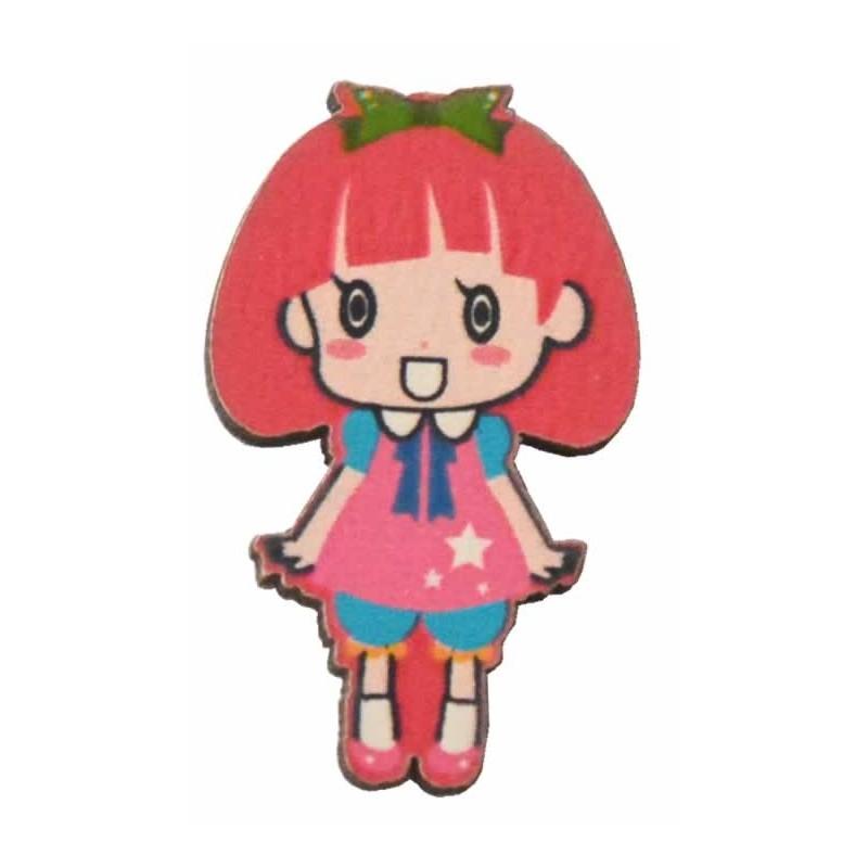 Siluetas muñeca mini 3 cm rosa