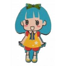 Siluetas muñeca mini 3 cm azul