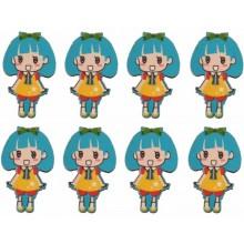 Siluetas muñeca mini 3 cm azul 8 piezas