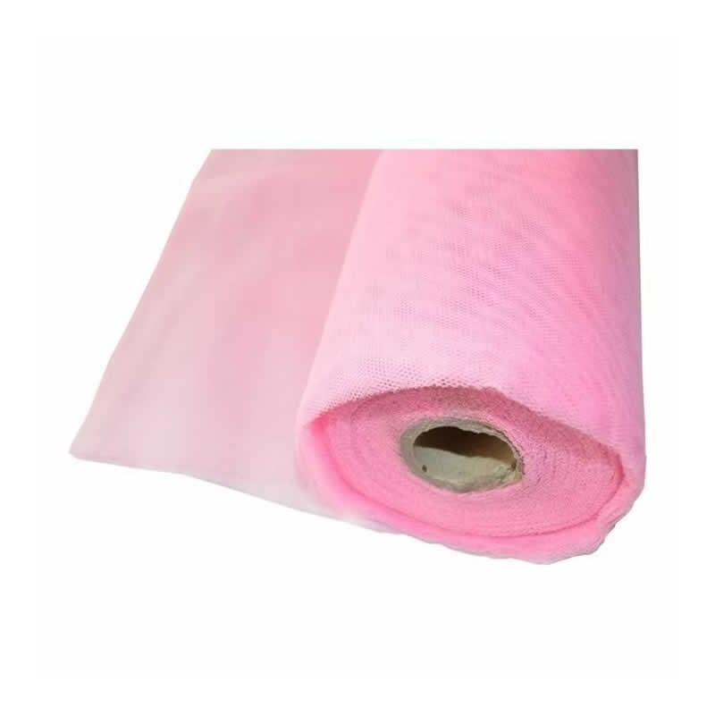 Tela de tul rosa