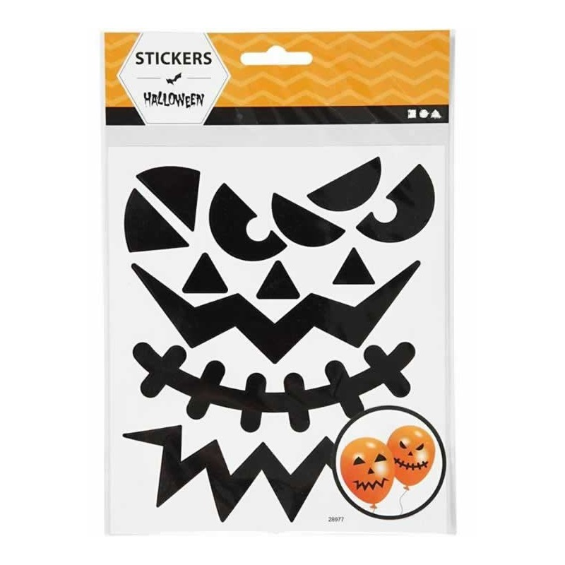 Pegatinas calabaza de Halloween