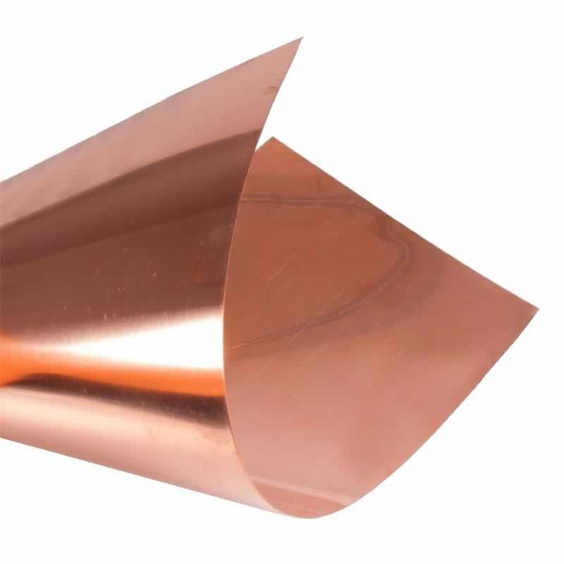 Lamina de cobre para repujar