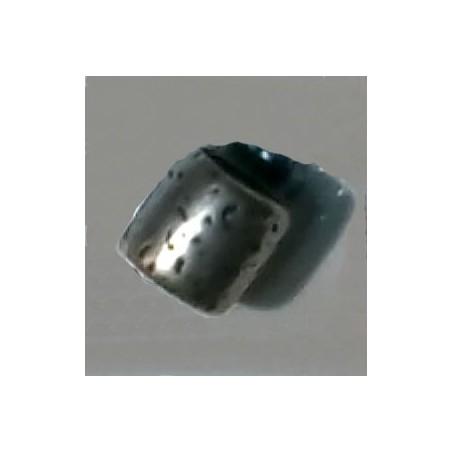 Cilindro picado plata antigua