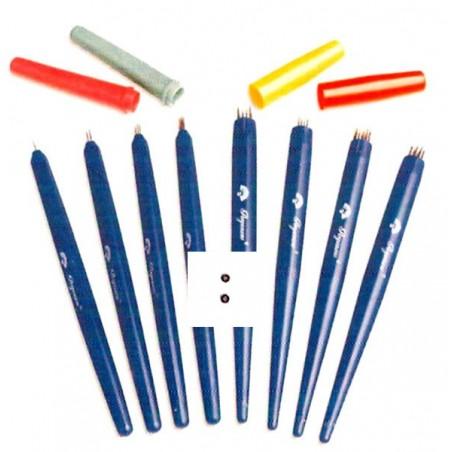 Perforador pergamano 2 agujas