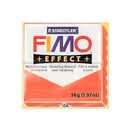 FIMO EFFECT Rojo translucido nº 204