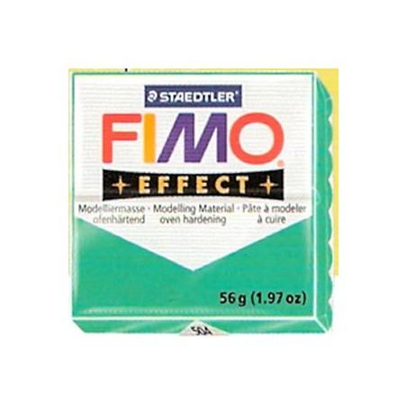FIMO EFFECT Verde translucido nº 504, 56 gr