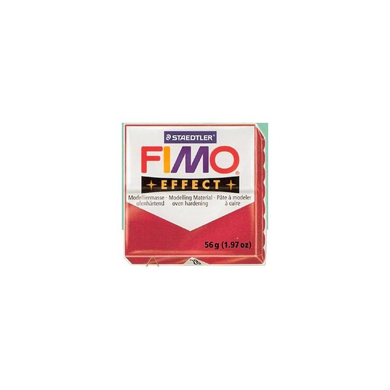 FIMO EFFECT ROJO RUBI METALICO Nº28