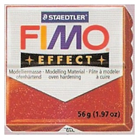 FIMO EFFECT ROJO GLITTER Nº202