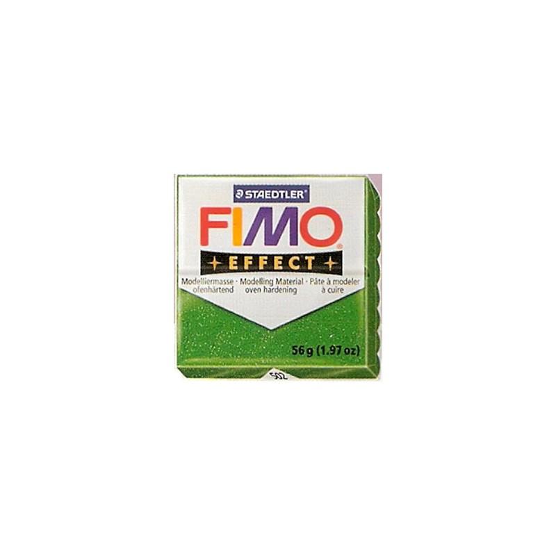 FIMO EFFECT VERDE GLITTER Nº502