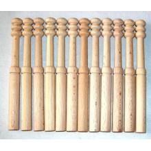 12 Bolillos Nº 12 lisos, madera bog