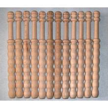 12 Bolillos ondulados, madera bog