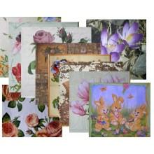 Surtido 10 servilletas variadas Flores