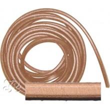 Cordon Cuero Regaliz oval NATURAL