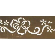 Plantilla metalica Brico 3x18 cm flores con cintas