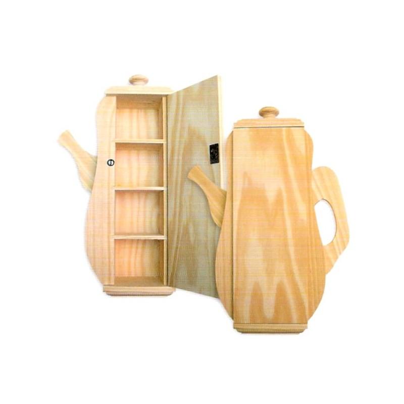 Caja madera Tetera