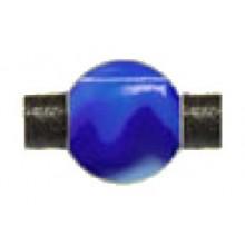 Bola resina redonda 10 color azul con aguas