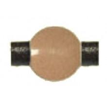Bola resina redonda beige 10 mm