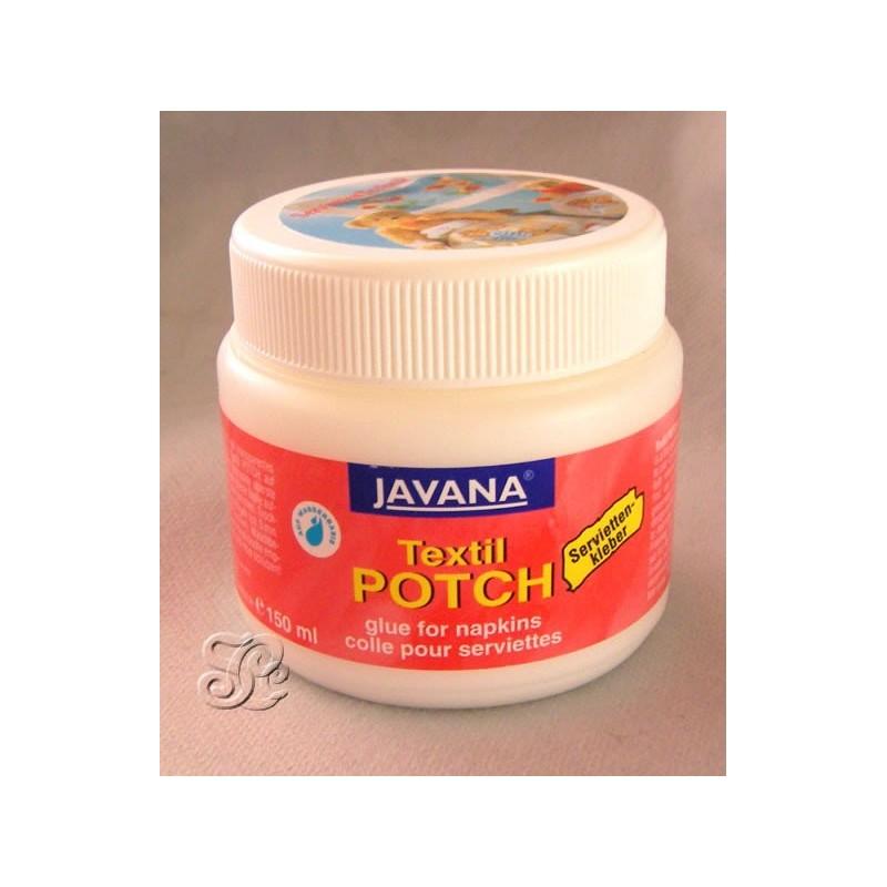 Cola para decoupage en tela Potch Javana