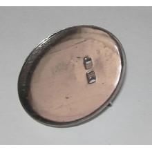 Imperdible con base (plateado) 25 mm