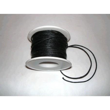 Cordon simil cuero, negro 4 metros, 2 mm