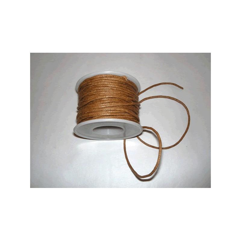 Cordon simil cuero, Marron, 5 metros, 2 mm