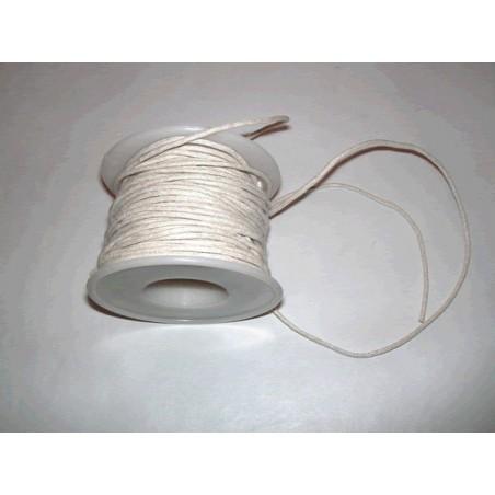 Cordon simil cuero, Blanco, 5 metros, 2 mm