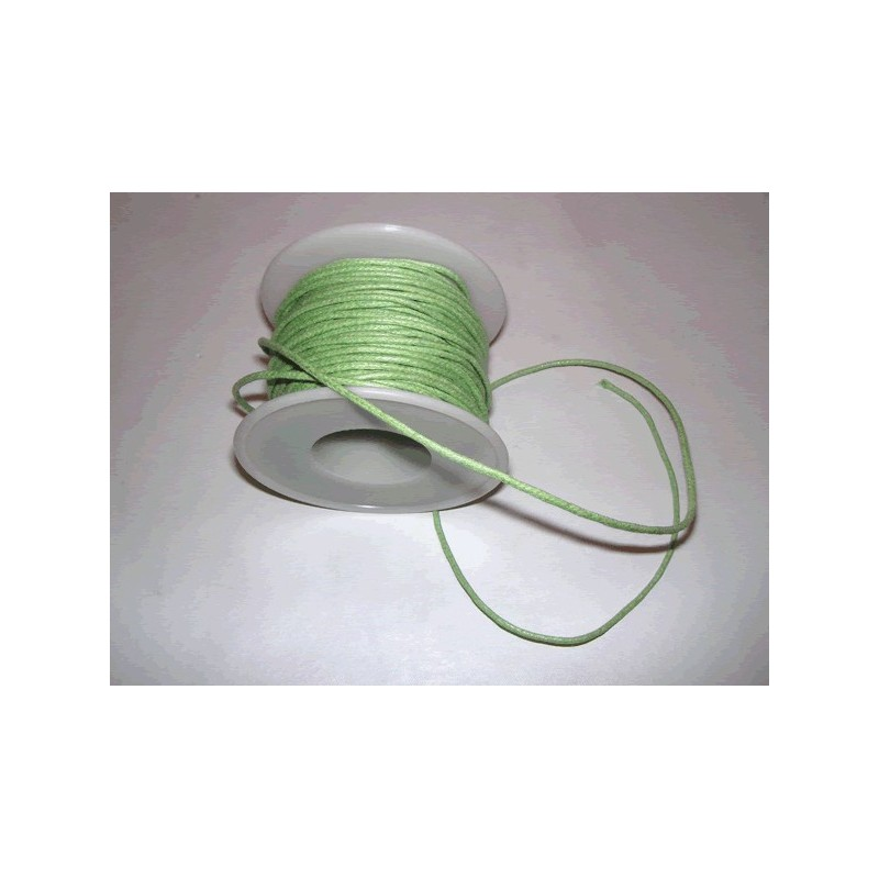 Cordon simil cuero, Verde Claro, 5 metros, 2 mm