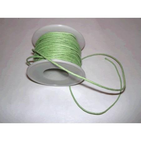 Cordon simil cuero, Verde Claro, 4 metros, 2 mm