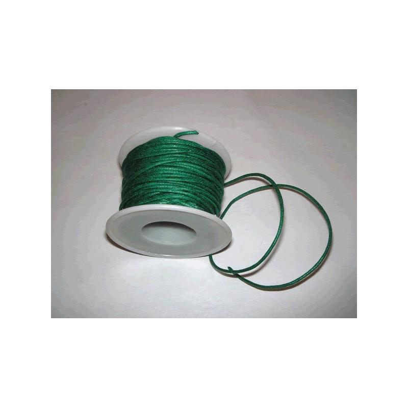 Cordon simil cuero, Verde Oscuro, 5 metros, 2 mm