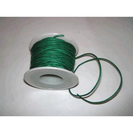 Cordon simil cuero, Verde Oscuro, 4 metros, 2 mm