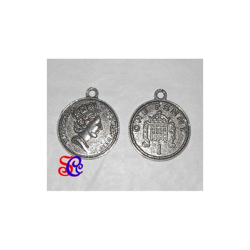 CHARM Moneda plata antigua