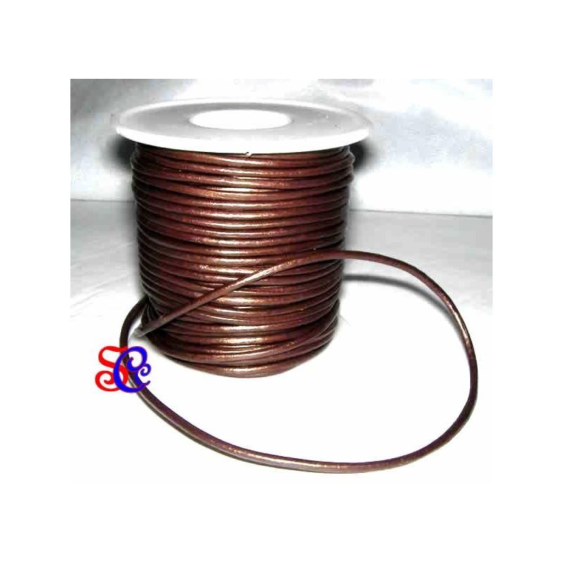 Cordon de cuero cobre, 1 metro