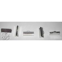 Terminal dentado para bisuteria color plata 1,5 cm ,5 unidades