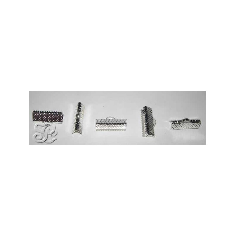 Terminal de presion de pinza color plata 1,5 cm