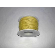 Cordon simil cuero, Amarillo, 4 metros, 2 mm