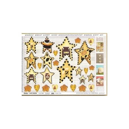 Papel Soft de Navidad Country Estrellas 50x70 cm