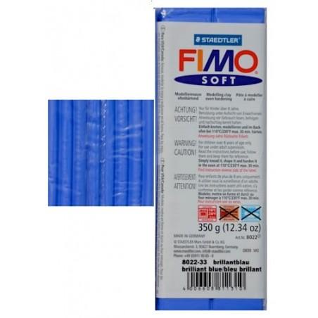 Pastilla de FIMO soft de 350 gr. Azul Brillante