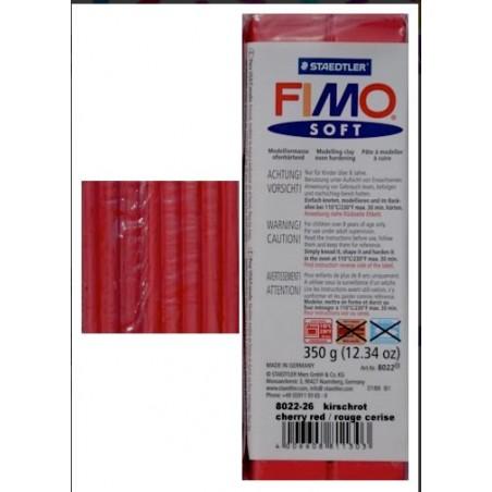 Pastilla de FIMO soft de 350 gr. Rojo Zereza