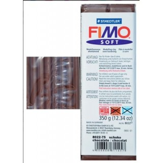 Pastilla de FIMO soft de 350 gr. Marron Chocolate