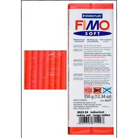 Pastilla de FIMO soft de 350 gr. Rojo Bermellon