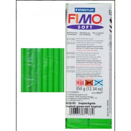 Pastilla de FIMO soft de 350 gr. Verde Vivo