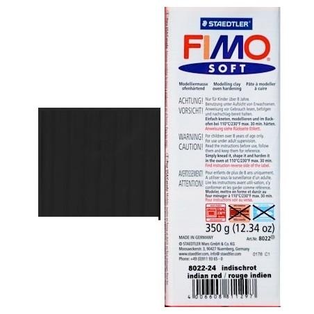 Pastilla de FIMO soft de 350 gr. Negro