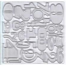 Letras y numeros, de plástico de diseño B, de 10 cm x 10 cm