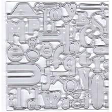 Cuadrados de plástico letras y numeros de diseño  B, de 10 cm x 10 cm