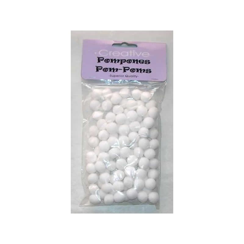 Bolas de fieltro, pompones blanco