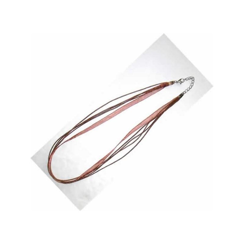 Cordón para colgante multi cordon, con cierre mosqueton y cadena
