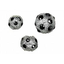 Bola con plata blanca-strass negro