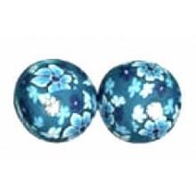 Bola fimo cristal strass. (1 und.) Azul
